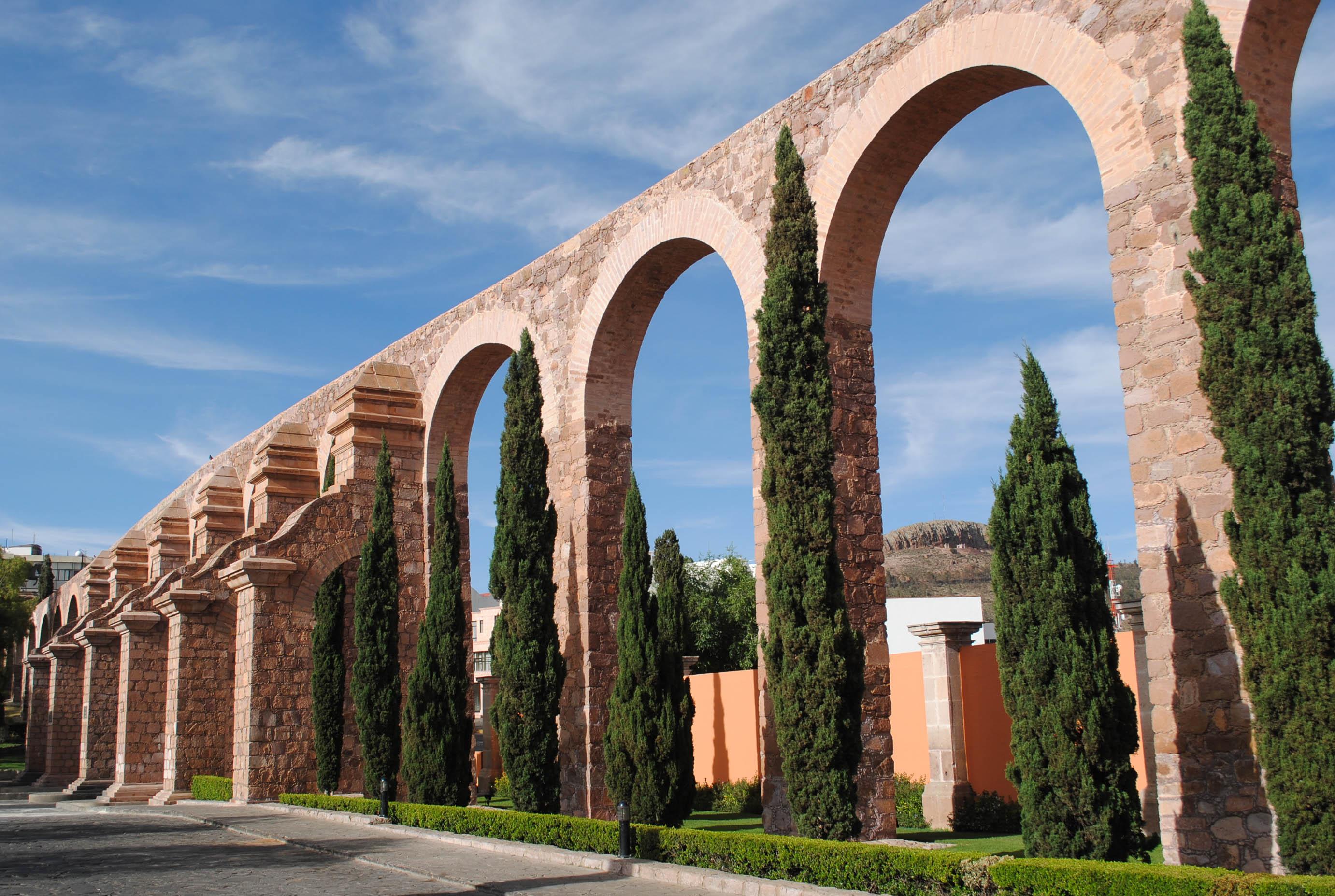 Vista del acueducto de Zacatecas